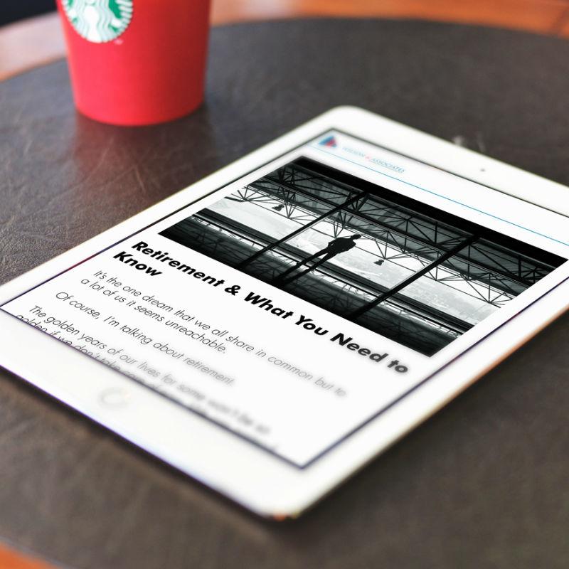 Wilson & Asociates Wealth Management Blog on tablet