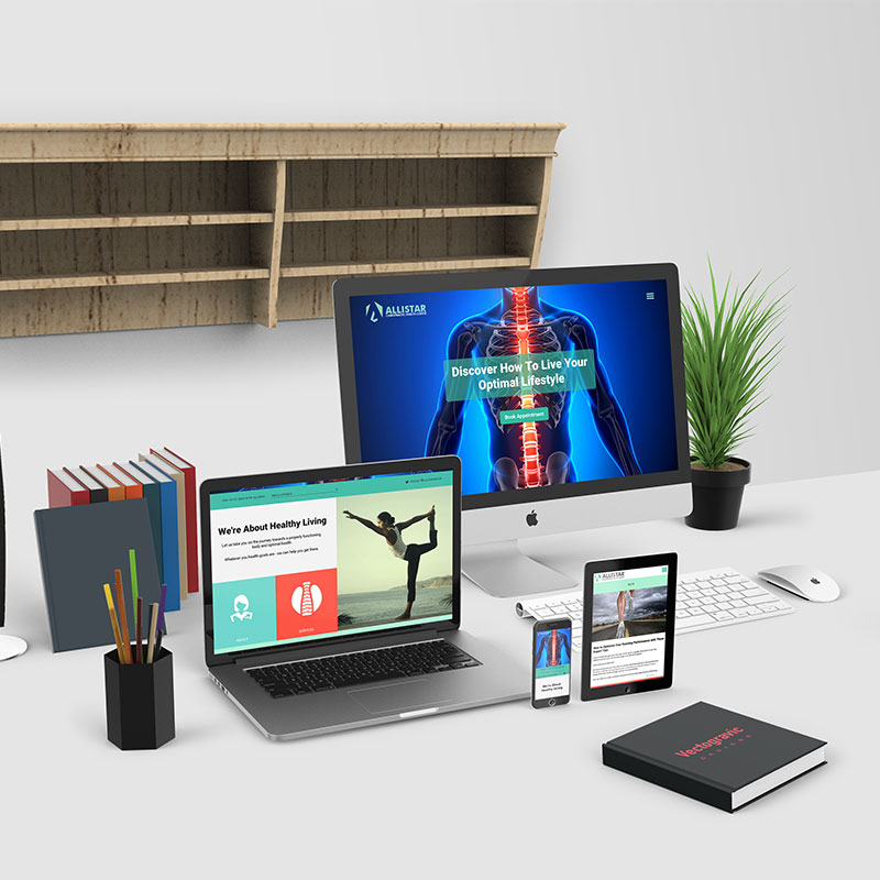 Allistar Chiropractic Health-Center Devices Mockups