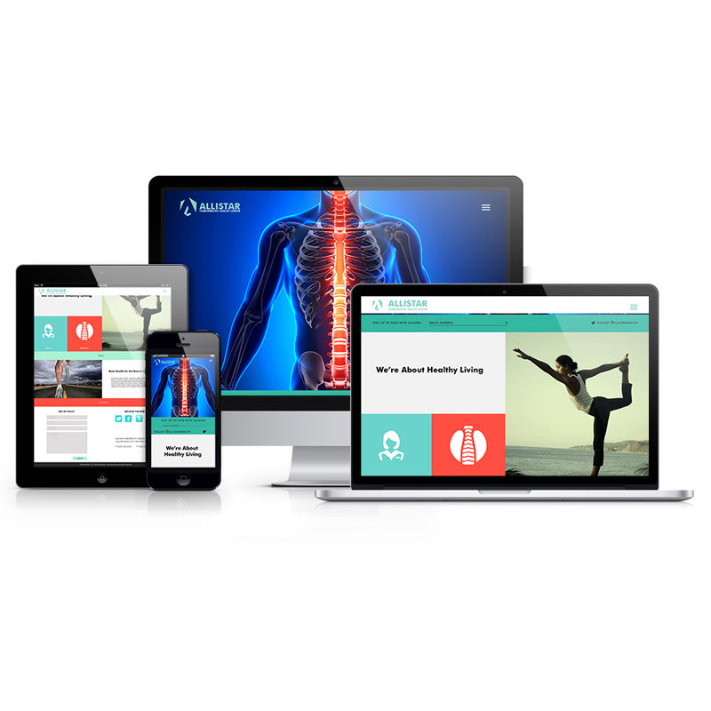 Allistar Chiropractic Health Center-Responsive Design Presentation
