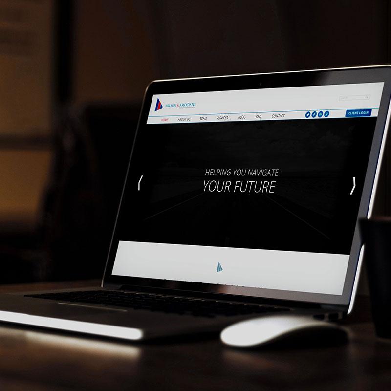 Wilson & Associates Wealth Management home page mock up